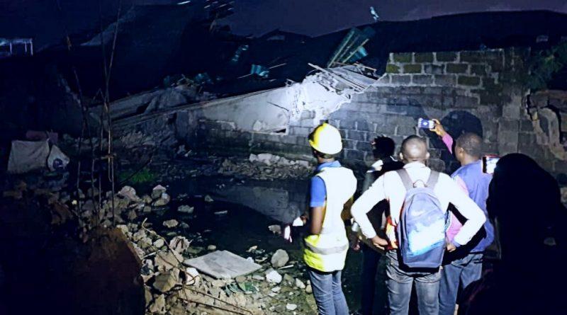 3-storey building collapses in Lagos