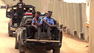 Armed Policemen On Patrol In Abeokuta