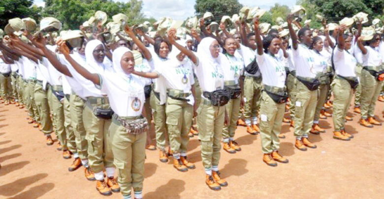 Batch 'b' Stream Two 2019 Corps Members During Their Swearing In Ceremony At The Nysc Orientation Camp In Kaduna Yesterday