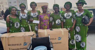 Ladies of the Order of Knights of St. Mulumba reaches out with medical equipment