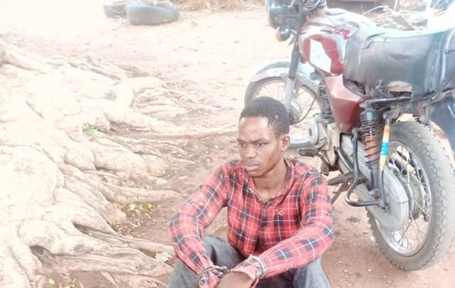 Kehinde John Moses Arrested With Fresh Human Head Hands