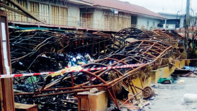 Remains Of Section Of Kairo Market Oshodi In Lagos On Saturday After The Friday Night Fire Outbreak