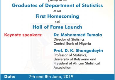 It's a Home-Coming Day for UNIBADAN Statistics Dept.