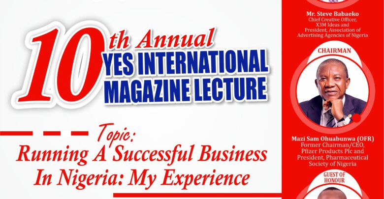 Yes International Magazine Lecture And Book Presentation Advert 2