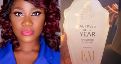 Mercy Johnson Wins Best Actress Of Year, Releases Stunning Photos To Celebrate Her Victor